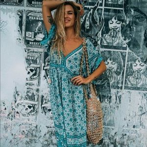 Spell Kombi folk maxi dress